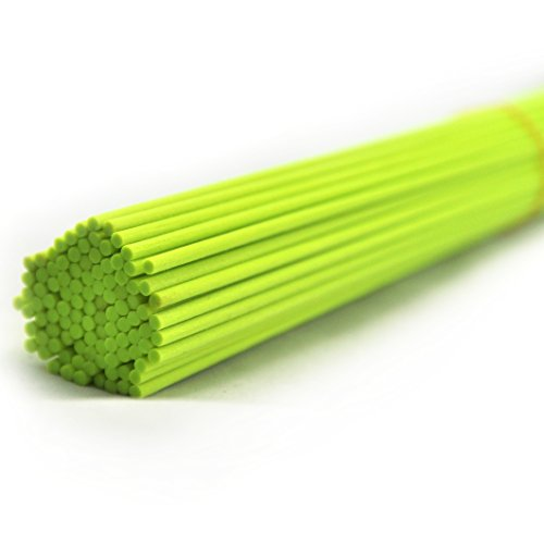 Ougual 50 Pieces Fiber Reed Diffuser Replacement Refill Sticks for Aroma Fragrance (Fluorescent Green,10