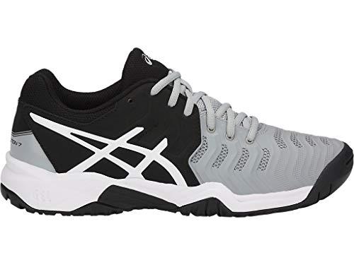 ASICS Kid's Gel-Resolution 7 GS Tennis Shoes, 4M, MID Grey/Black/White (Asics Mens Gel Resolution 4 Tennis Shoe)