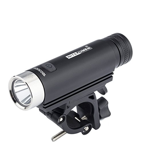 NITENUMEN Bike Light-Super Bright,USB Rechargeable Waterproof light, C10 Bicycle Light with long lasting 18650 3400mAh Li-ion Battery and Easy Install Bicycle Light Clip