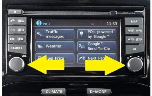 Nuevo Nissan Qashqai Juke bot/ón de Radio Volumen est/éreo sintonizador de Potencia de conexi/ón 2 Solo Modelo