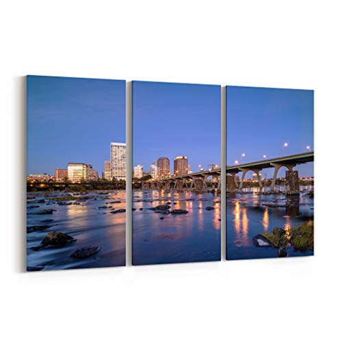 (Richmond Canvas Art Richmond Wall Art Canvas Richmond Canvas Print Virginia Multiple Sizes Gallery Wrapped Canvas on Pine Wooden Frame)