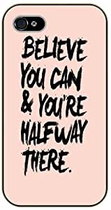 Believe you can and you are halfway there - iPhone 5 / 5s black plastic case / Life, dreamer's inspirational and motivational quotes