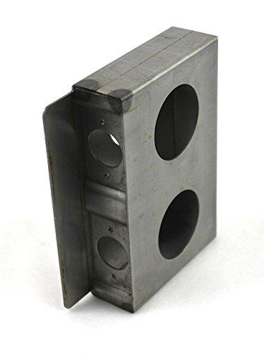 Lock Box Gate (Gate Lockbox Double Hole Weldable Steel 6 7/8