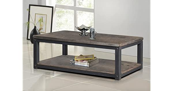 Amazon.com: Heritage rústico madera y metal Café o Té Mesa ...