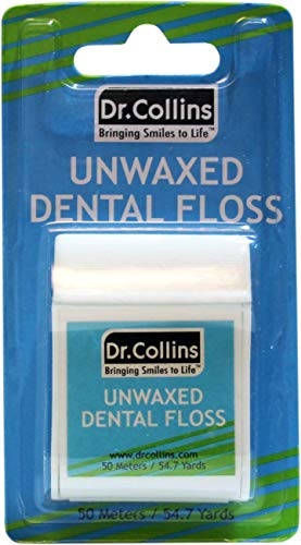 Dr. Collins Dental Work Floss, Unwaxed Extra Fine, 55 yd (50.3m) Package