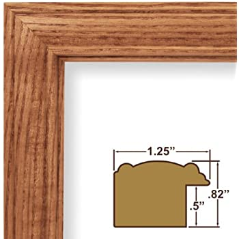 11x15 picture poster frame wood grain finish 125 wide honey oak 59504100