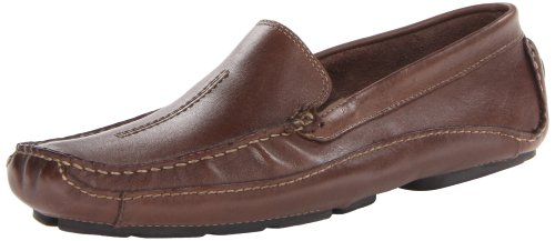 Clarks Mens Mansell,Brown Leather,US 7.5 M Clarks Moccasin