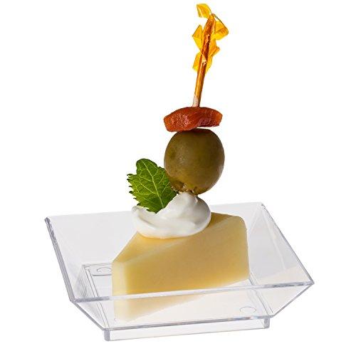 Prextex Mini Dessert Plates 25quotx25quot 100 Sturdy Square  : 41oMUEUea7L from www.desertcart.ae size 500 x 500 jpeg 19kB