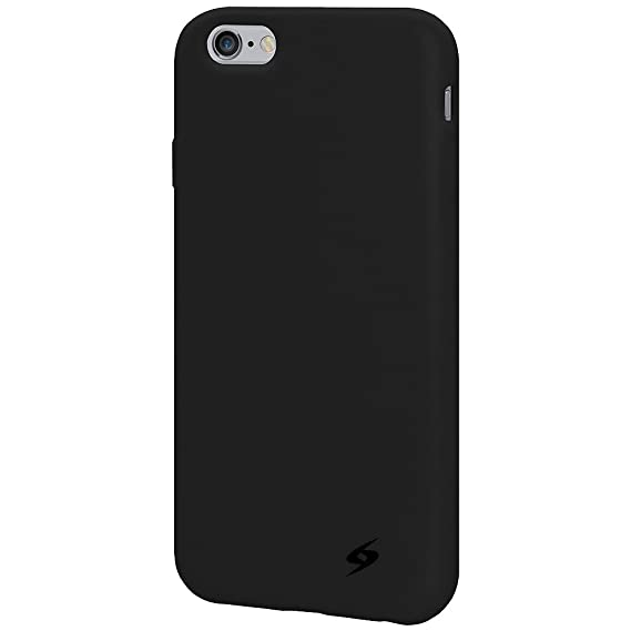 new products 7708a a8c4a Amzer Soft Silicone Skin Fit Jelly Case Cover for Apple iPhone 6, iPhone 6s  - Retail Packaging - Black