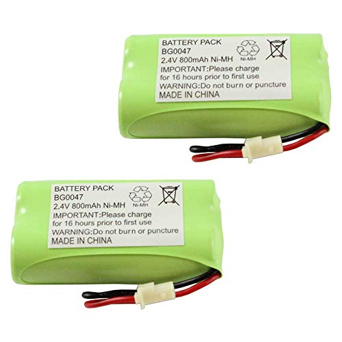 WalR Rechargeable Cordless Phone Battery Ni-MH, 2 Pack, for Interstate Batteries ATEL0055 TEL0055 Lenmar CBB350 NABC STB950 STB-950 Presidian 43271 43-271 Sanyo GESPC07 PCF07 ()
