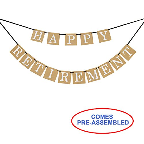 Happy Retirement Banner Sign - Retirement Party Supplies Favors,Gifts and (Happy Retirement Sign)