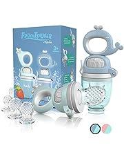 TABRIX® Fruitzuiger baby vanaf 3 maanden & peuter (2x) - tandhulp baby met drukfunctie voor bijkost BPA-vrij alternatief voor fopspeen / bijtring baby - babygeschenk - babyvoeding accessoires