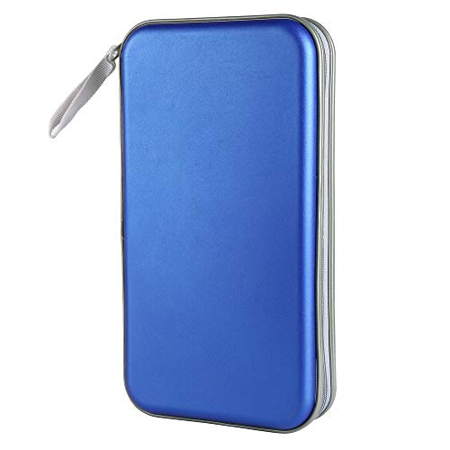 Siveit 80 Capacity Heavy Duty CD/DVD Wallet Binder, Storage, Case, Bag, Holder, Booklet (Blue) Cd / Dvd Case Holder