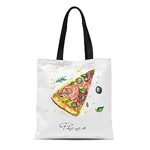 Aquarelle Watercolour Pizza Watercolor Food Slice Canvas Shoulder Tote Bag 41oMYq4VSQL  Get Healthy Today! 41oMYq4VSQL