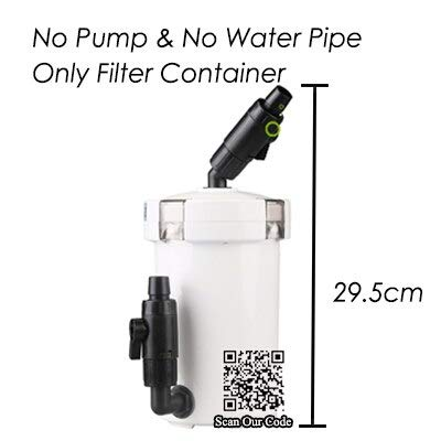 S-World 4Home Aquarium Filter - Ultra-Quiet External Aquarium Filter Bucket Container for Aquarium Fish Tank, Filter Box + Water Pump 6W Super Filtering System