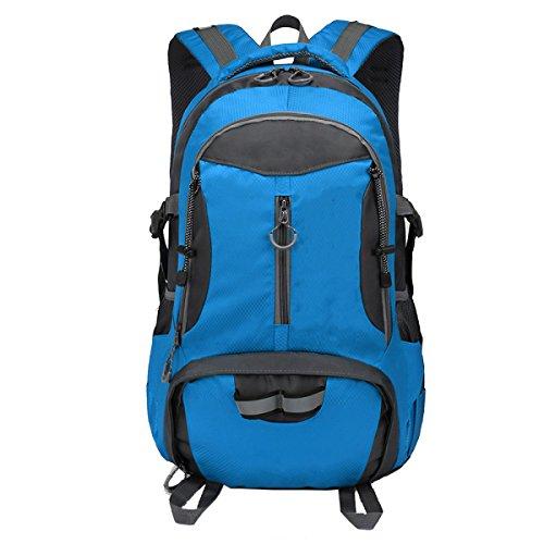 Yy.f Deportes Al Aire Libre Ocio Viaje Mochila Bolsa De Hombro Impermeable Gran Capacidad De Alpinismo Bolsa Bolso De Hombro Bolsa De Estudiante Mochila Multi-funcional. Multicolor Blue
