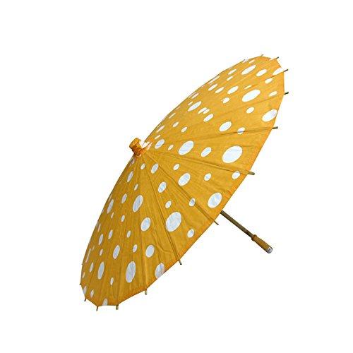 Quasimoon Orange Parasol Umbrella PaperLanternStore