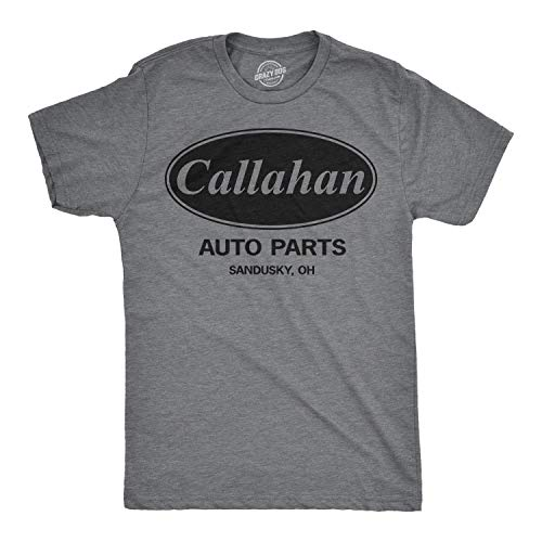 Poly Youth T-shirt - Mens Callahan Auto T Shirt Funny Shirts Cool Humor Movie Quote Sarcasm Tee (Dark Heather Grey) - S