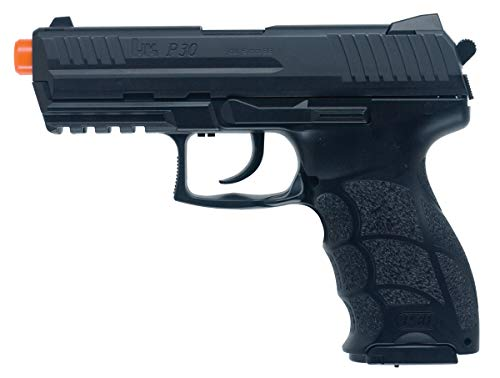 h&k p30 with metal slide pistol (black, medium)(Airsoft Gun)