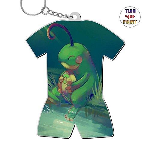 - Ringkyo Custom Cute Frog World Cup Pattern Key Chain