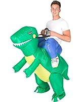 Bodysocks - Inflatable Dinosaur T-REX Adult Fancy Dress Costume