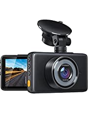 Dash Cam 1080P FHD DVR Car Driving Recorder 3 Inch LCD Screen 170° Wide Angle, G-Sensor, WDR, Parking Monitor, Loop Recording, Motion Detection