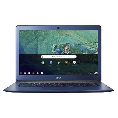 Acer 14in Chromebook Bundle - Intel Celeron N3160 Processor 1.6GHz - 4GB LPDDR3 Memory - 32GB Internal Storage - Chrome OS Stellar Blue (Renewed)
