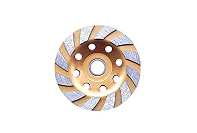 """M-W 4"""" Heavy Duty 12 Segs Concrete Turbo Diamond Grinding Cup Wheel for Angle Grinder"""