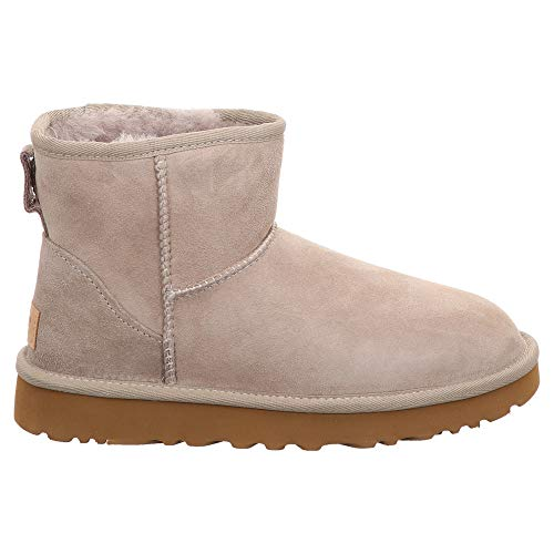 6 Boot Classic On 6 Women's oyster Mini Oyster Ugg Suede Ii Sheepskin Size Pull OBqwAF8p
