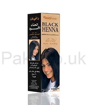 Rani Black Henna Black Henna Hair Colour Hair Dye Cover Your