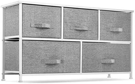 5 Drawer Dresser Organizer Fabric Storage Chest