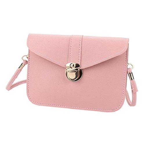 ShenPr Women Zero c Fashion Purse Messenger Leather Phone Handbag Bag Bag Clearance Purple Shoulder Pink A Single rwtS5cvqr