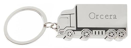 Llavero de metal de camión con nombre grabado: Orcera (ciudad / asentamiento)