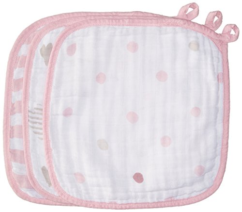 aden + anais washcloth set 3 pack, heartbreaker