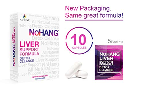 NoHang Liver Detox Supplement & Hangover Pill - Supports Liver Health & Function - All-Natural, Gluten Free, Non-GMO - Premium Quality Liver Cleanse Formula (10 Capsules)