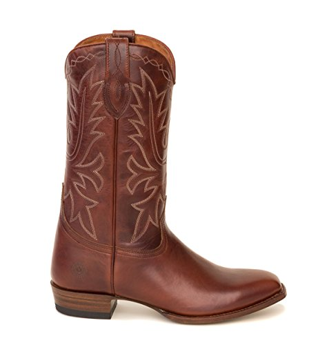 Stivali Da Strada Ranch Mens Boot Da Cowboy Marrone Carson County Con Tacco Ambulante