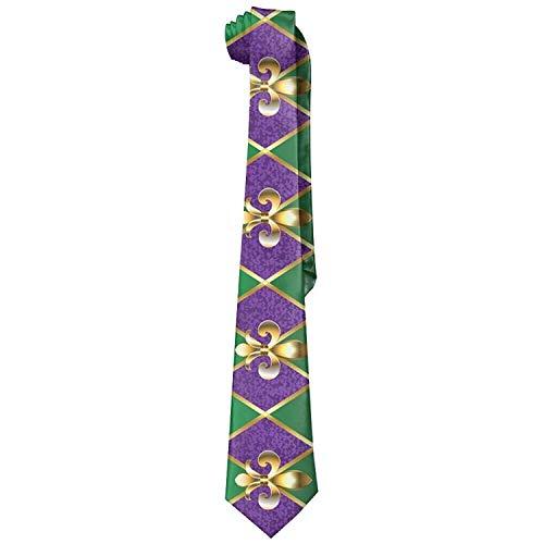 Mens Fleur De Lis Mardi Gras Fashion Silk Ties Personalized Gift Neckties ()