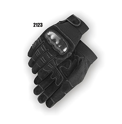 (12 Pair) Majestic REVERSE COW PALM GLOVES WITH THERMOPLASTIC POLYURETHANE KNUCKLE GUARD & FINGER GUARDS - 2X LARGE(2123/12)