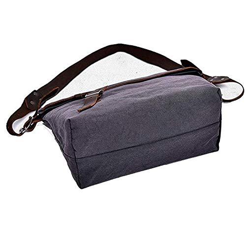 Alltid insistera på framgång Crossbody stor kapacitet kanvas axelväska affärer casual väska handväska resväska för affärsskola daglig herrportfölj (färg: A1) A1