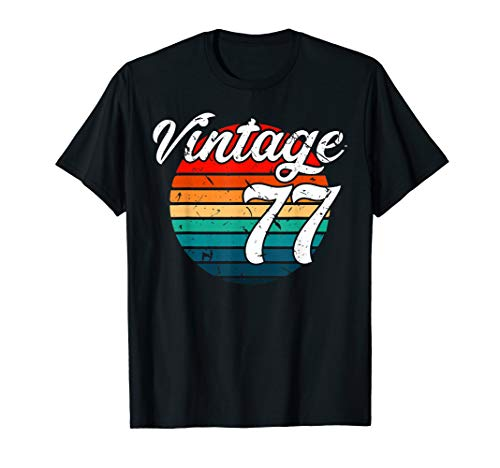 - 1977 Retro Vintage 42th Birthday Gift T Shirt