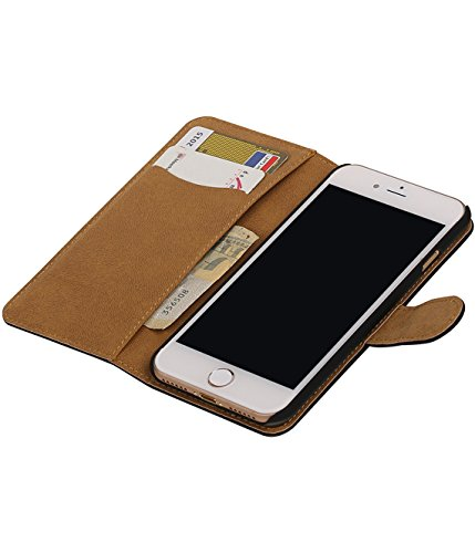 MobileFashion Effen Book Cases pour Iphone 6 Portefeuille Case Cover Booktype avec Slots pour cartes et support