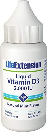 Vitamin D3 (Liquid Emulsion), 2000 IU, Mint 1 oz (Pack of 2)