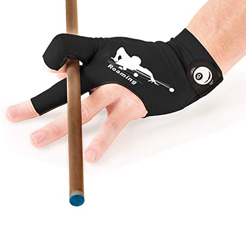 Roaming Billiards Glove Carom Pool Glove Snooker Cue Sport Glove Fit on Left Hand for Men and Women