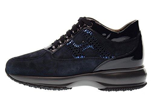 Hogan Sneakers Donna Hxw00n0y750j2k4460 Blu Lav.lamina Pois Blu