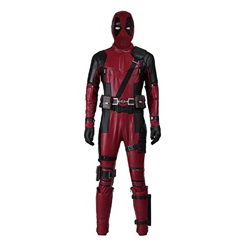 Mens DP Movie Cosplay Costume Deluxe Full Body Suits Leather Jumpsuit Outfit Halloween Costumes (XL, Costume+Mask)