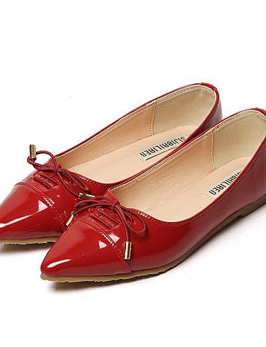 Tac¨®n Zapatos Plano de Rojo Planos Casual Vestido mujer Cerrada 5 uk6 Semicuero cn40 red Bailarina Puntiagudos Negro cn40 us8 Punta uk6 5 5 eu39 eu39 cn34 red ZQ uk3 YYZ Azul eu35 red us8 5 us5 E5qIwX