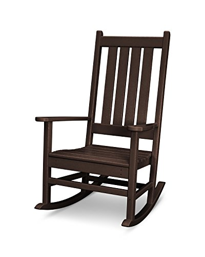 POLYWOOD Vineyard Porch Rocking Chair (Mahogany) (Outdoor Sofa Mahogany)