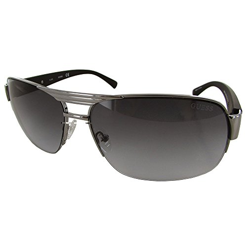 Guess Mens GU6831/130 Rectangular Fashion Sunglasses, Gunmetal