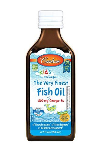 Carlson Kid's The Very Finest Fish Oil, Orange, Norwegian, 8