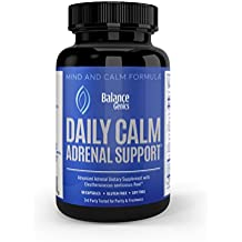 Adrenal Support & Cortisol Manager Supplements - Stress Relief & Adrenal Fatigue Formula, B5, B6 (pyridoxine), B12 vitamins - Gluten Free, Soy Free, Non-GMO, Vegetarian Capsules